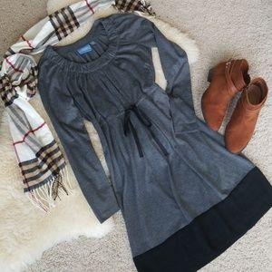 Vera Wang Grey Knit Dress